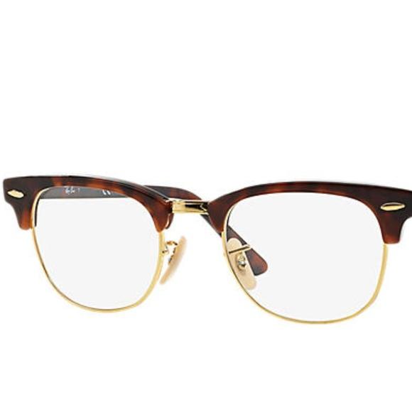 6b71d51ccff22 ... reduced rayban clubmaster optics glasses tortoise w gold 6c4b4 413f3 ...